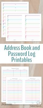 Password Log Colourful Address Book And Password Log Printables