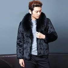 mens faux fur coats men faux fur coat long style winter warm casual cool faux fox mens faux fur coats
