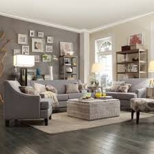 photos of living rooms with grey walls