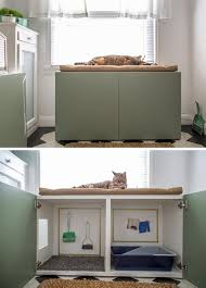 concealed litter box furniture. 10 ideas for hiding your cats litter box turn a cabinet into contemporary concealed furniture o