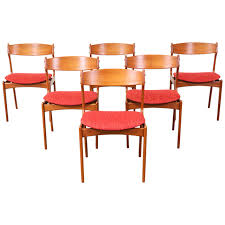 contemporary dining chairs exotic erik buck 49 teak dining chairs for o d mobler teak dining with