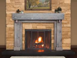 cool shabby wood mantel made of reclaimed wood for traditional fireplace