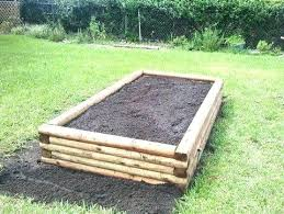 raised garden bed blueprints plans using landscape timbers kits costco