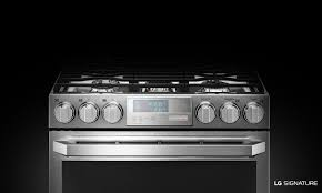 Gas Kitchen Ranges Lg Lutg4519sn Lg Signature Gas Double Oven Slide In Range Lg Usa