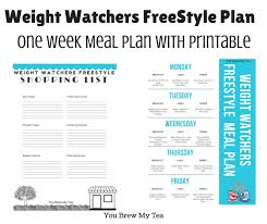 Weight Watchers Points Plus Range Chart Weight Watchers Freestyle Plan One Week Menu Plan You Brew