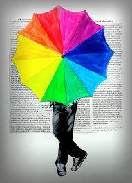 a new spin on the color wheel assignment - arteascuola: A Rainbow Umbrella!  I