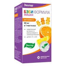 <b>Витамины</b> ЭВАЛАР <b>Беби формула мишки</b> жевательные ...