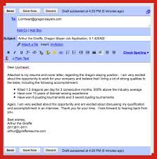 How To Email Cover Letter And Resume Email Letter Format Good Resume Format 7