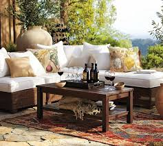 Outdoor Living Room Sets Adorable Outdoor Living Room Decorative Cushion Stone Fireplace