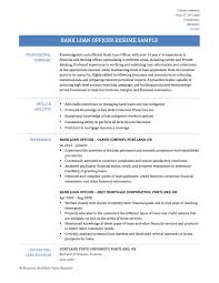 Professional Mortgage Loan Officer Resume Example Template With