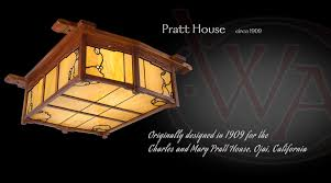 pratt house ceiling light greene and greene style craftsman lighting made in america