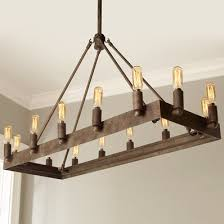 rustic wooden wrought iron chandeliers shades of light for rectangular chandelier design 0