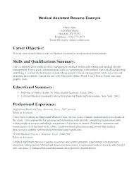 Resume Objective Examples For Medical Assistant Top Rated Medical