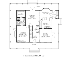 Southern Heritage Home Designs   House Plan  A The ASHLAND  quot A quot House Plan  A ASHLAND first floor plan