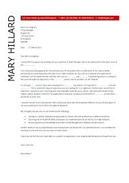Cover Letter For Manager Retail General Manager Cover Letter Hotel