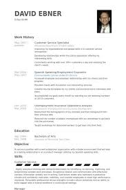 Customer Service Specialist Resume samples - VisualCV resume .