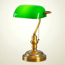 old style desk lamp retro classic office table bedroom den green cover of fashioned e41