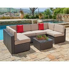 modern wicker patio furniture.  Wicker Suncrown Outdoor Patio Furniture Set 7Piece Set Brown Wicker Sofa  Intended Modern K