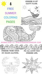 Four Free Summer Coloring Pages #summer • Winter & Sparrow