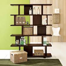 divider ideas stylish wooden tic tac toe dark brown wooden bookshelf as room divider
