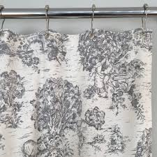 french toile shower curtain gray southern ticking co blue full size