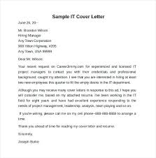 Internship Cover Letter Sample Information Technology Adriangatton Com