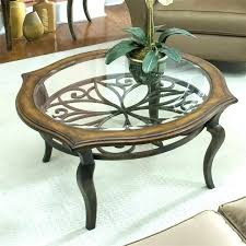 round glasetal coffee table wood top metal base coffee table metal coffee table with