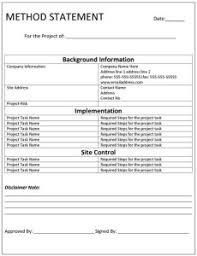 Method Of Statement Sample Sample MS Office Templates Part 100 12