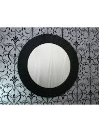 large modern art deco contemporary round black wall mirror 107cm diameter