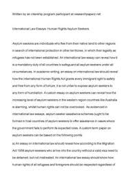 calam atilde copy o international law essays human rights asylum seekers international law essays human rights asylum seekers