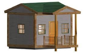 image of easy backyard playhouse plans