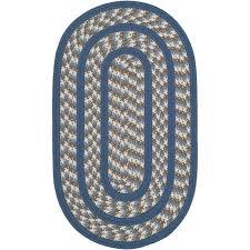 safavieh braided ivory braided rug oval 3 x 5