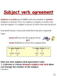 Subject Verb Agreement Chart Subject Verb Agreement Rules In Grammar Sample Resume