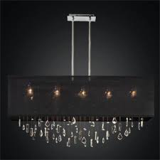 crystal drop chandelier rectangular shade chandelier finishing touches 007
