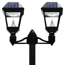 imperial ii series double solar lamp and single lamp post gs 97nd gamasonic solar lighting