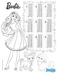 Multiplication Table Barbie Coloring Pages Hellokidscom