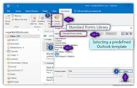 Create Outlook Message Template How To Create Publish Organizational Forms In Office 365