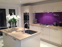 custom purple kitchen wall coverings