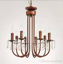 svitz moroccan style rural cafe light luminaire 8 arm brown iron pendant lights crystal lamp restaurant retro vintage indoor lighting ceiling lamps ceiling