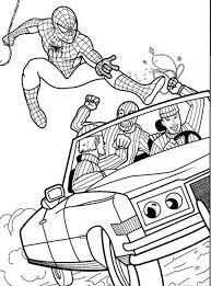 Spiderman Che Cattura Una Banda Di Ladri Disegni Gratis Per Bambini