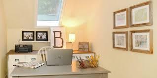 home office makeover. Remodelaholic | $250 Budget Home Office Makeover With DIY Filing Cabinet Desk