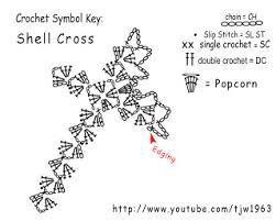 Crochet Cross Pattern Amazing Crochet Shell Cross