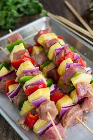 easy teriyaki pork kabobs made with extra lean and tender hormel s premarinated pork tenderloin