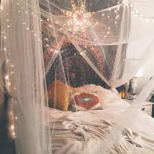 Urban Outfitters On Instagram. Bed, Bedroom, Fairylights, Grunge, Indie,  Inspiration