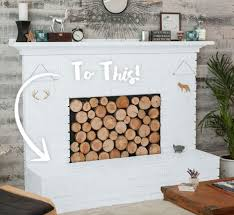 painted white brick fireplaceModern Rustic Update to Fireplace Paint and Wall  Behr