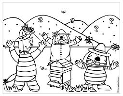 Coloriage Ruche Insectes