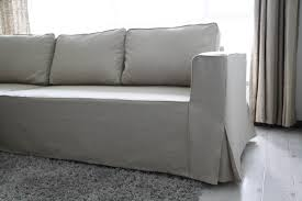 Image Stretch Box Pleat On All Corners Comfort Works Loose Fit Linen Manstad Sofa Slipcovers Now Available