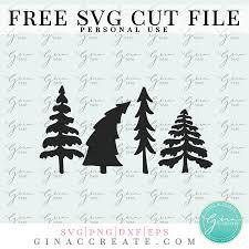 Decorative circle christmas tree frame border ornament vector illustration. Christmas Trees Free Svg Cut File Gina C Creates