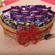 loaded with chocolates
