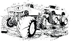 Free Monster Truck Coloring Pages Printable Coloring Source Kids